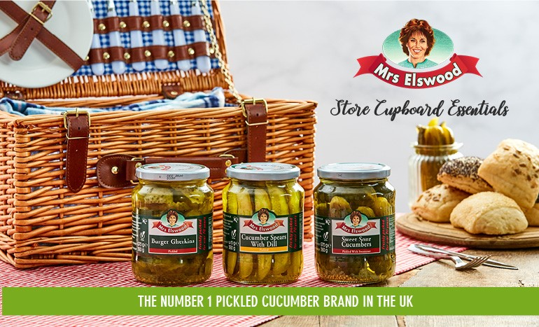 Stock the number one pickled cucumber brand, Mrs Elswood!